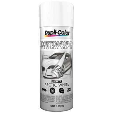 Dupli-Color® Custom Wrap Removable Coating - Matte Arctic White, 11 oz