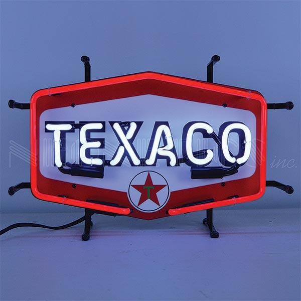 Texaco Hexagon Junior Neon Sign