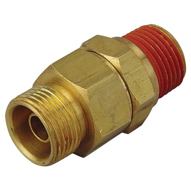 "Air Compressor Check Valve - Inline Unloading, 1/2"" Male OD"