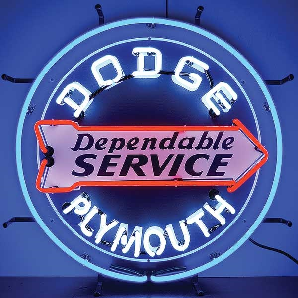 Dodge Service Neon Sign