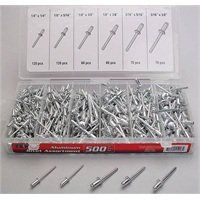 500-Pc Aluminum Rivet Assortment