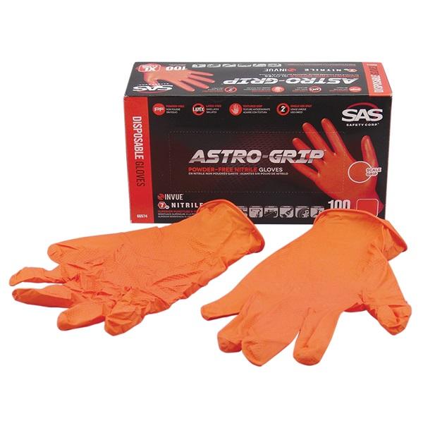 SAS® ASTRO-GRIP™ Disposable Nitrile Work Gloves, Lrg