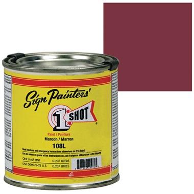 1 Shot® Lettering & Pinstripe Enamel Paint - Maroon