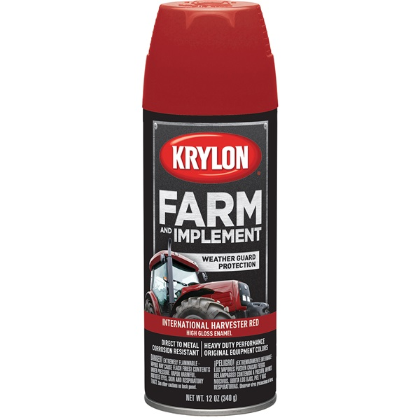 Krylon® Farm & Implement Paint - International Harvester Red, 12 oz
