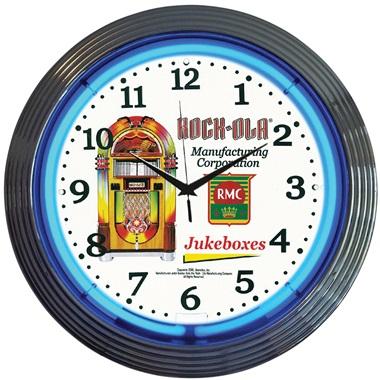 Rock-Ola® Jukebox Neon Wall Clock
