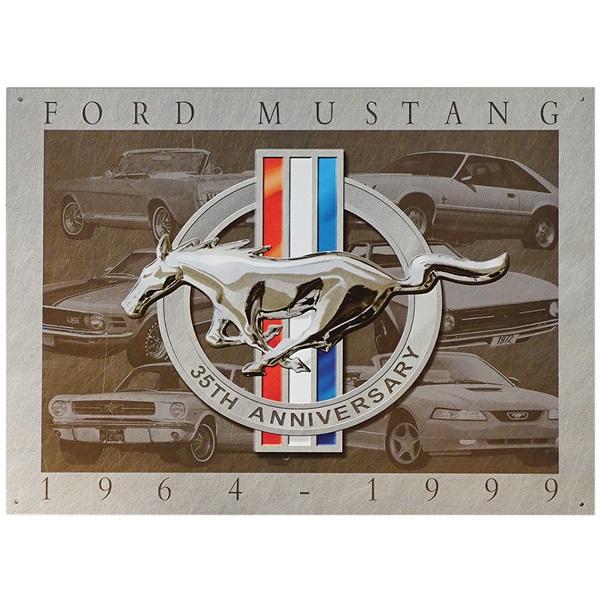 "Mustang 35th Anniversary Tin Sign - 16""W x 12-1/2""H"