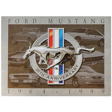 "Mustang 35th Anniversary Tin Sign - 16""W x 12-1/2""H"
