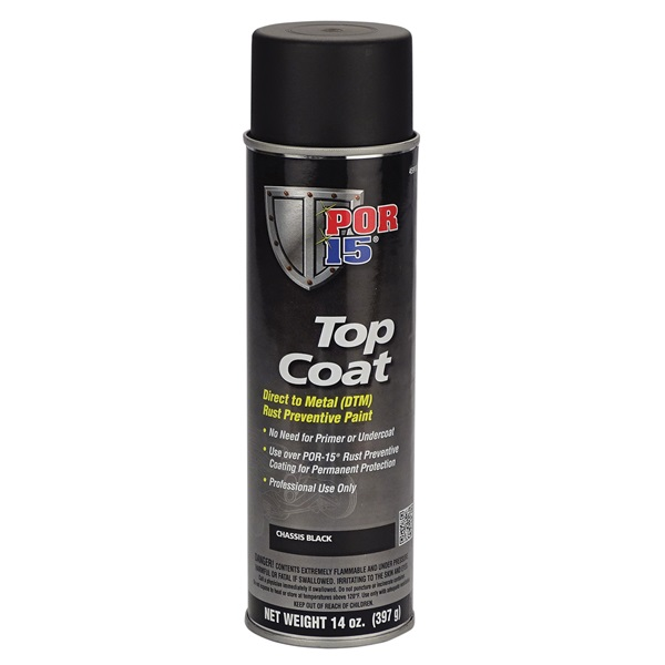POR-15® Chassis Black Topcoat, 14 oz Spray