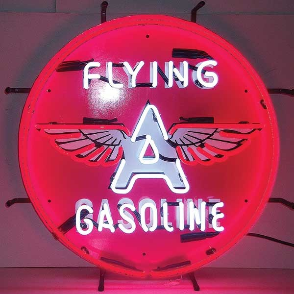 Flying A Gas Neon Sign